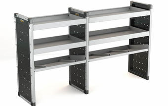 Double Unit 2 Flat Shelves and 1 Angled 1000mm (h) x 1750mm (w)