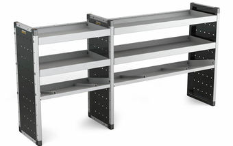 Double Unit 2 Flat Shelves and 1 Angled 1000mm (h) x 2000mm (w)