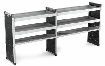Double Unit 2 Flat Shelves and 1 Angled 1000mm (h) x 2250mm (w)