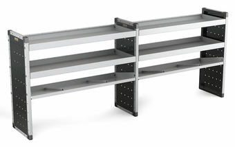 Double Unit 2 Flat Shelves and 1 Angled 1000mm (h) x 2500mm (w)