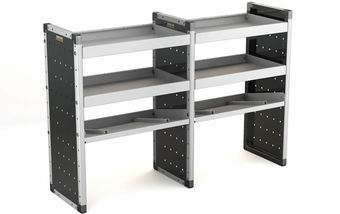 Double Unit 2 Flat Shelves and 1 Angled 1000mm (h) x 1500mm (w)