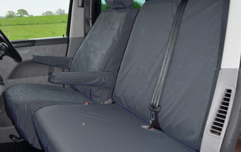 Volkswagen T5 & T6 Transporter 2010 on Single & Double with armrest - Black