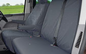 Volkswagen T5 & T6 Transporter 2010 on Single & Double with armrest - Black