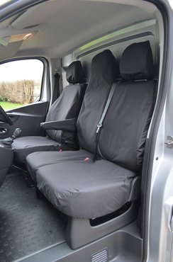 Easy Fit Tailored Van Seat Covers - Fiat Talento 2016 on - Single & Double  Folding - Black