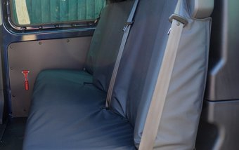Ford Transit Custom 2013 on Rear Triple Bench - Black
