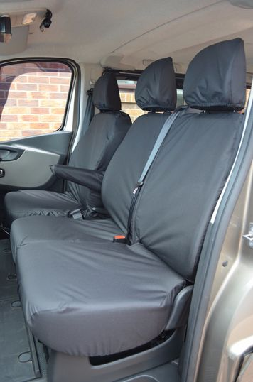 Easy Fit Tailored Van Seat Covers - Nissan NV300 2016 on - Front & Rear -  Black