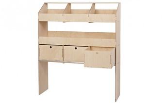 3 Drawer and Open Shelf VL100/G/4