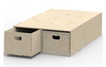 Twin Storage Drawers Rearward Opening VL200/B
