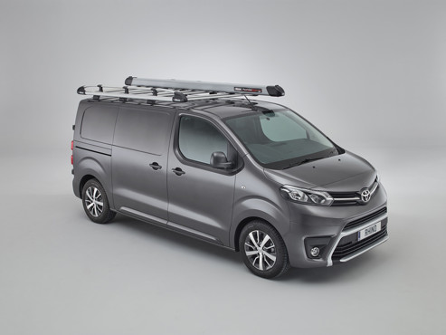 Toyota Proace 2016 onwards Aluminium rack & pipetube pro